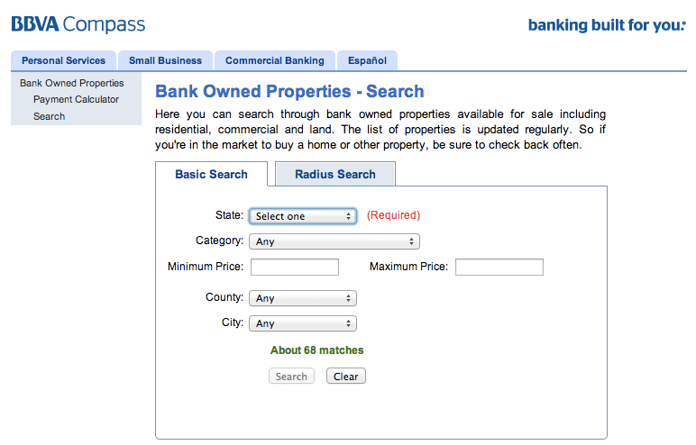 Bank Of America Foreclosed Commercial Properties