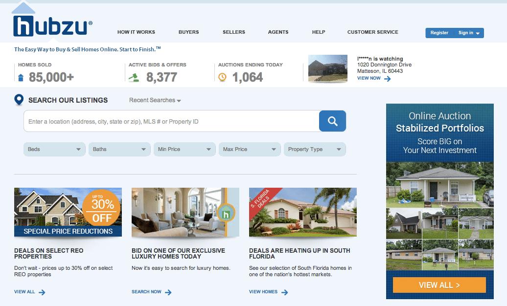 Hubzu-ForeclosureWebsite