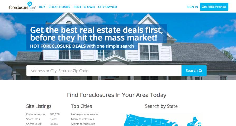 Foreclosure.com homepage